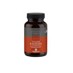 Vitamini B-kompleks z vitaminom C 50 kapsul