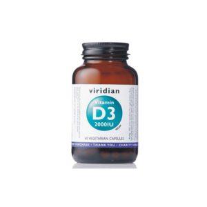 Viridian Vitamin D3 60 kapsul