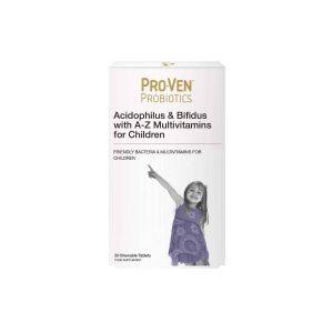 Proven Probiotiki in multivitamini za otroke od 4. leta 30 tablet za žvečenje